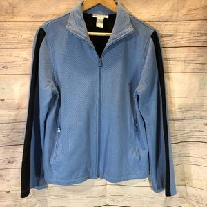 CHADWICK'S Women's Zip Front Jacket Blue/ Black